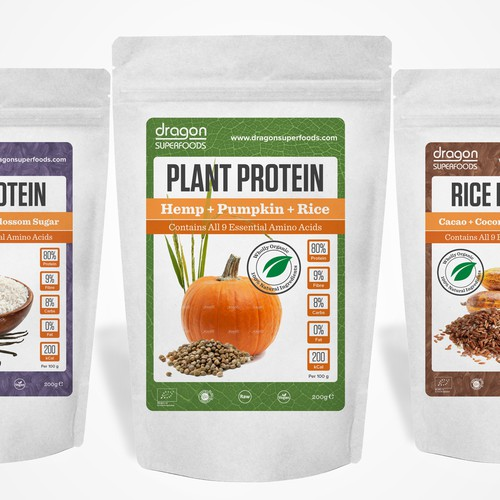 Organic Protein Mix Packaging
