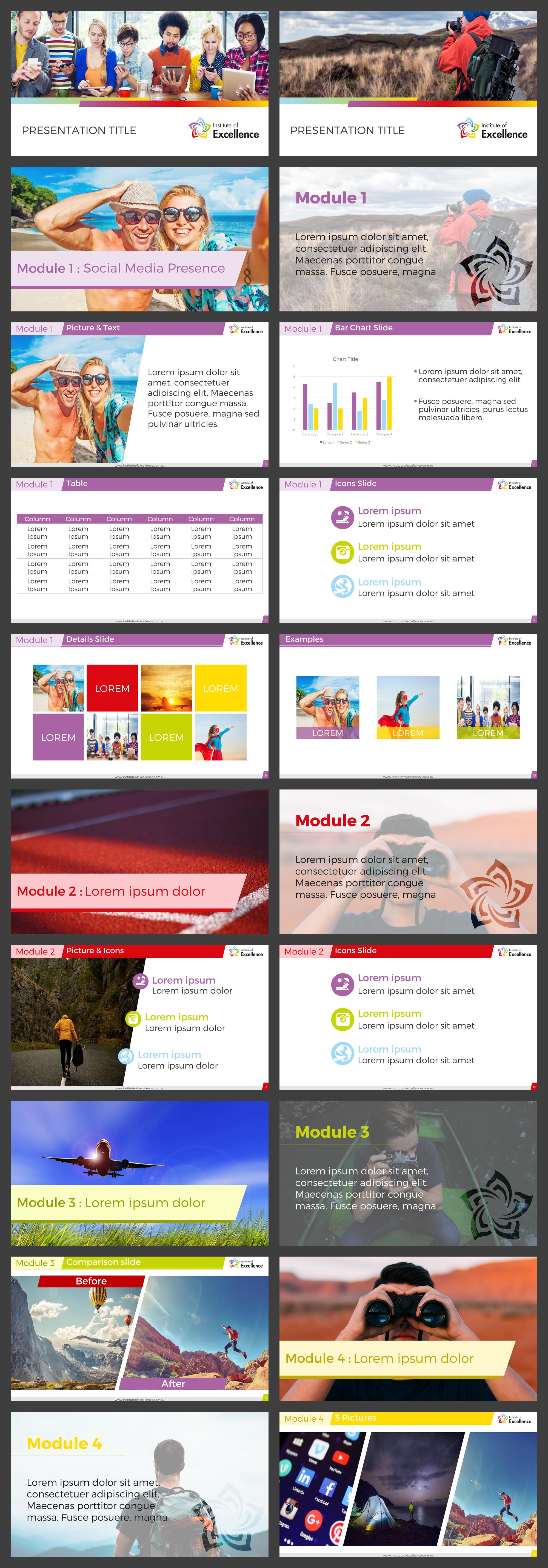 Tourism and social media training presentation template
