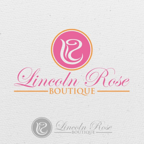 Modern logo for Lincoln Rose Boutique