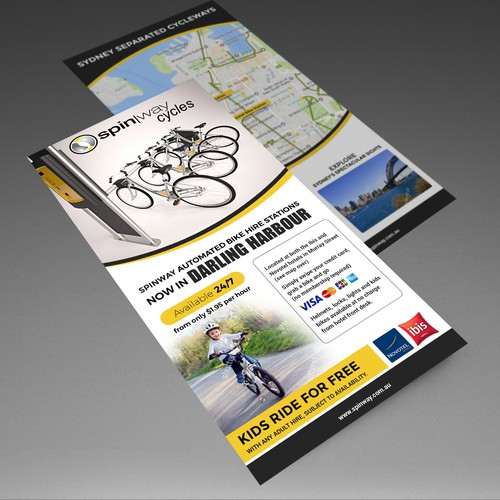 Design a catchy flyer for an automated bike hire station