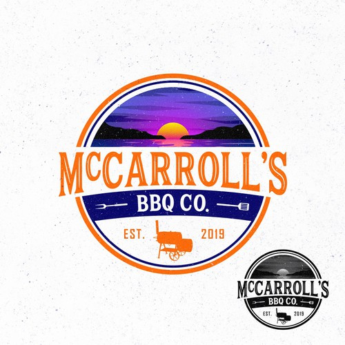 logo concept for McCarroll's BBQ Co.