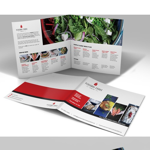 Clean, modern, classy brochure for Personal Cook Service