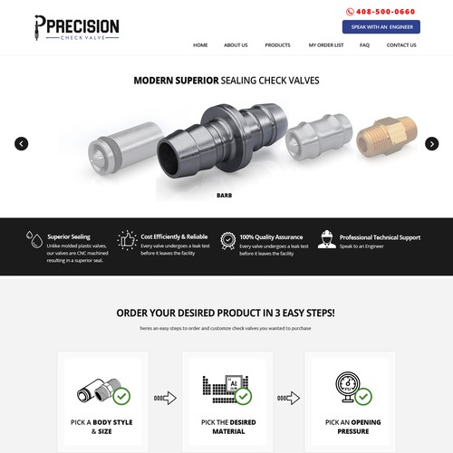 Start Up Check Valve Company Needs a Great B2B Website