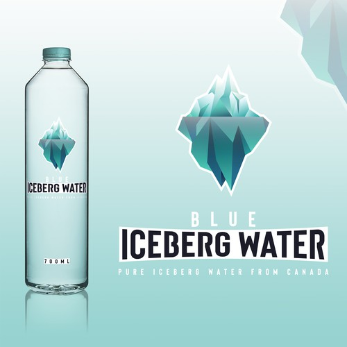 Packaging concept for Iceberg Blue Water.