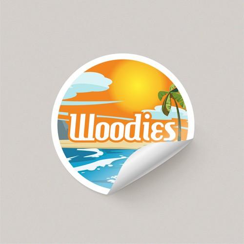 Design concept for Woodies brand sticker