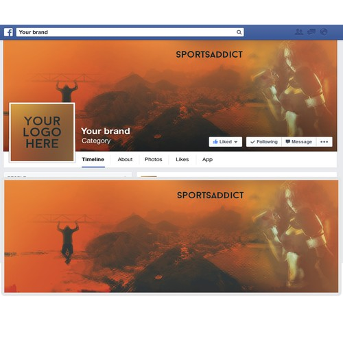 Facebook cover for a sports page based in Rio de Janeiro