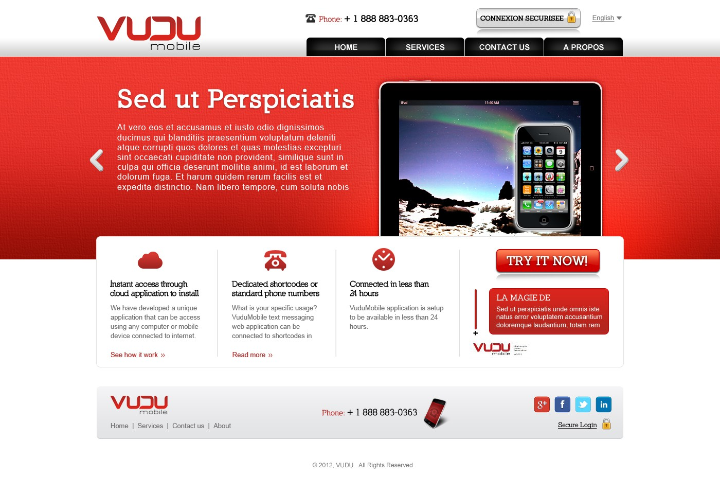 New website design wanted for VuduMobile