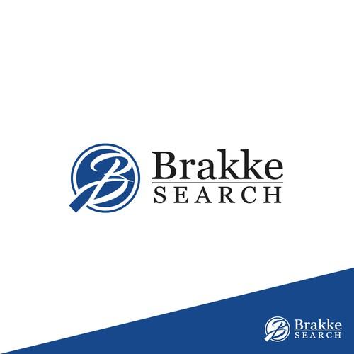 Winner logo for Brakke Search logo design contest.