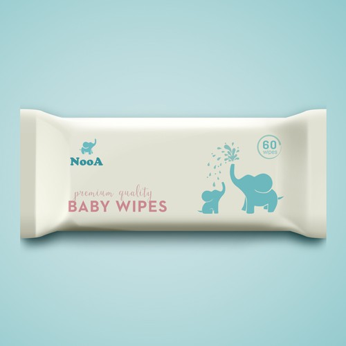 packaging design for baby whipes