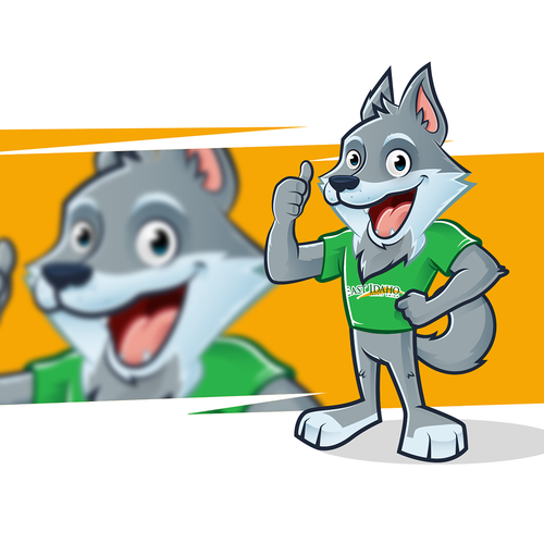 Wolf mascot for financial company