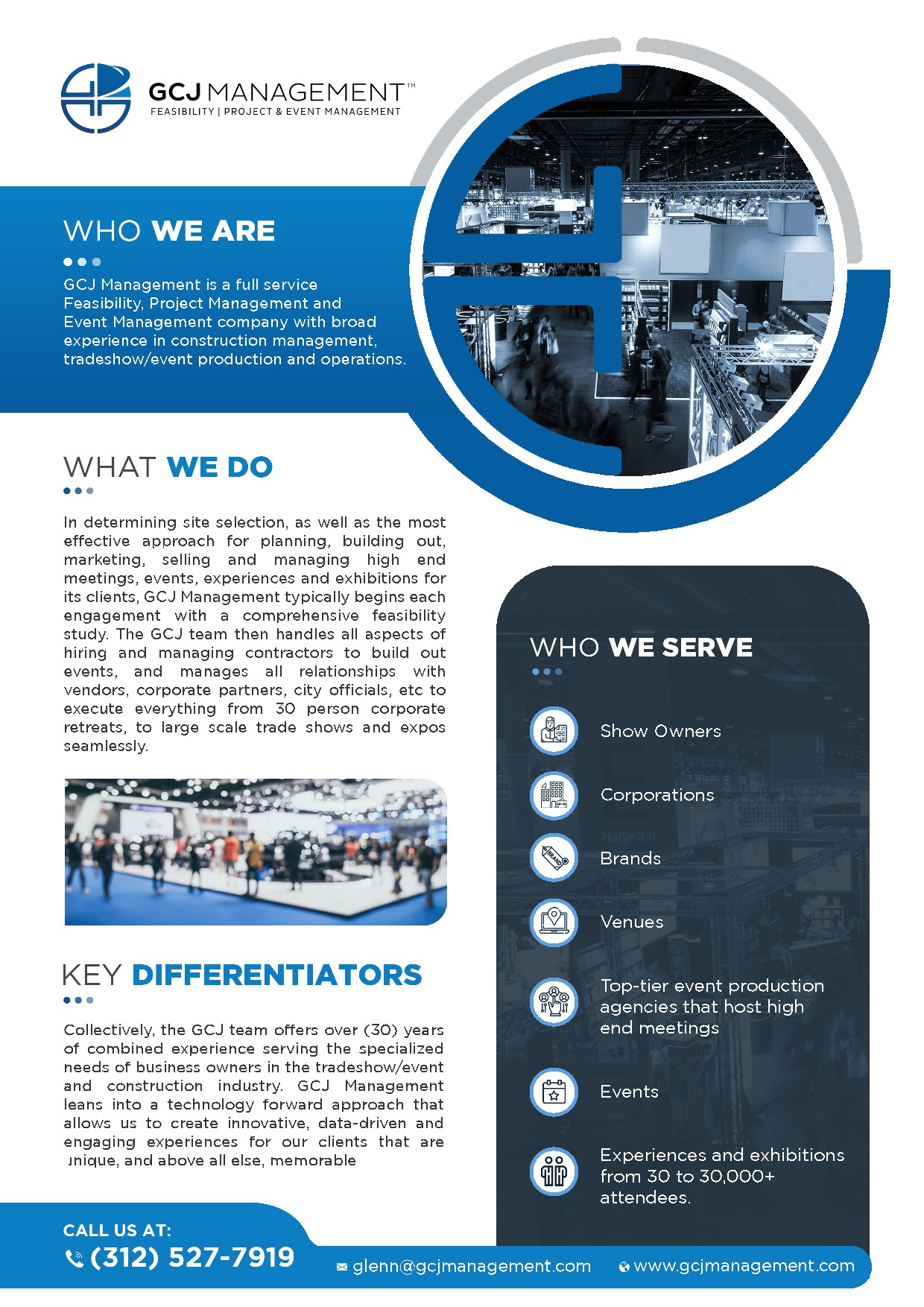 --->> --->> 1-PAGE OVERVIEW NEEDED FOR HIGH END EVENT MANAGEMENT COMPANY <<--- <<---