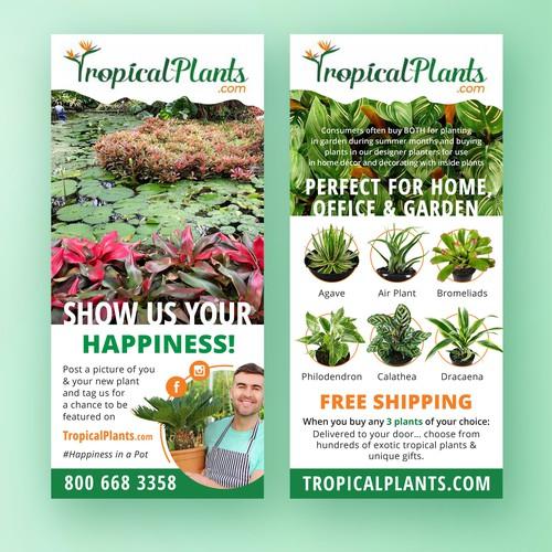 Flyer for floral shop