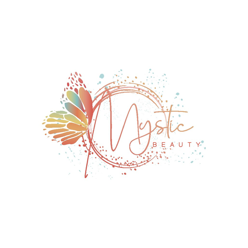 Create an elegant vibrant colorful cosmetics line logo for Beutiful young elegant  girls