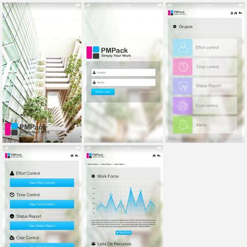 Crie uma design de aplicativo para celular atraente