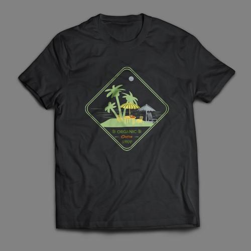 Sea Coffee Shop T-shirt Design