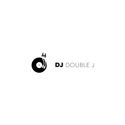 Create a sweet iconic design logo for DJ Double J