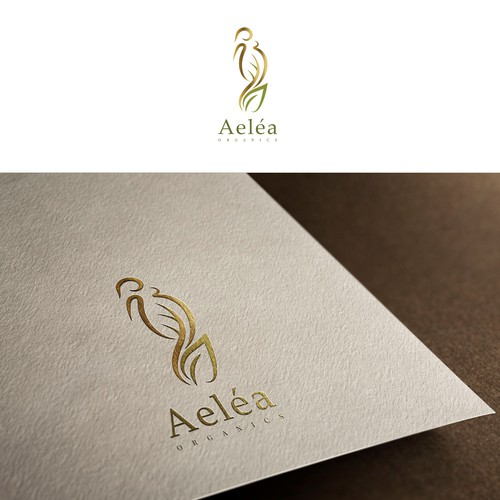 Elegant logo for organic cosmetics targeted for pregnant women