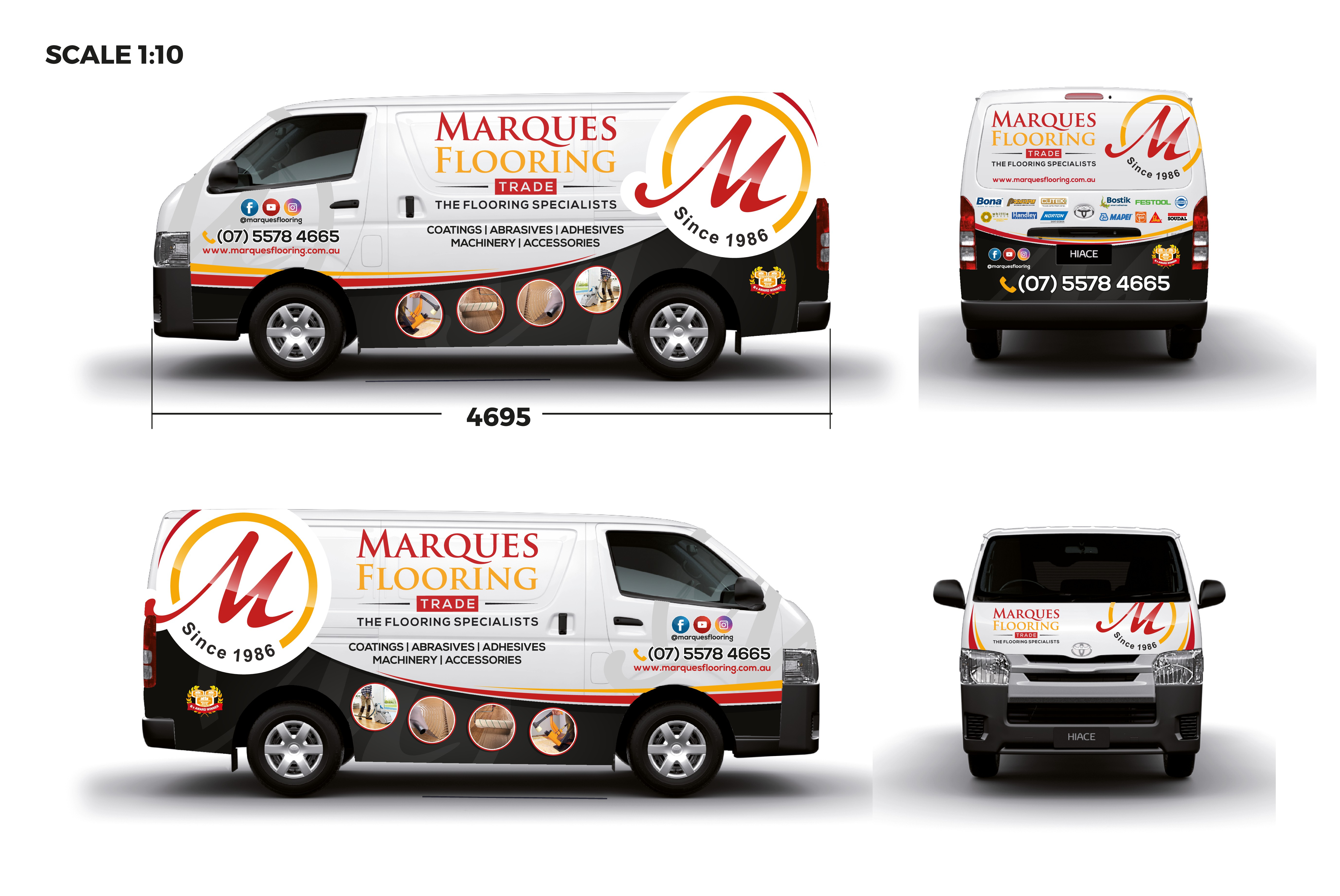 Create an exciting Van Wrap for a Trade Delivery business in the Timber Flooring Industry