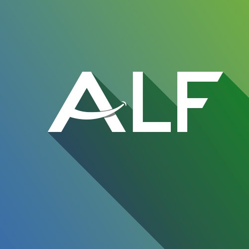 Partly smiling Logo  for a cool new app named ALF