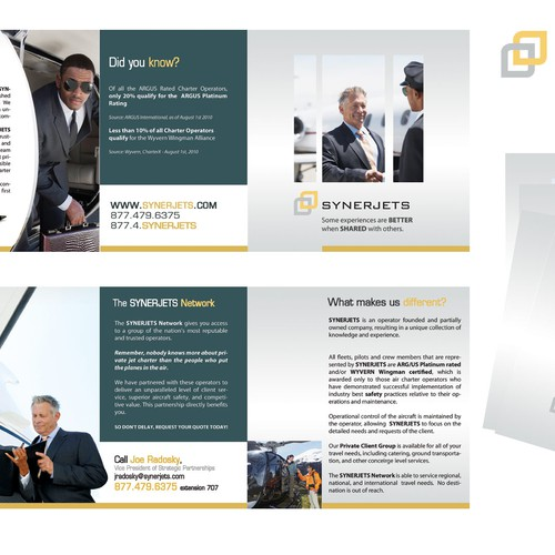 Jet Charter Startup -  Tri-fold for print & web