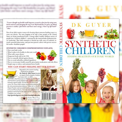 """Book Cover Concept for """"Synthetic Children"""""""