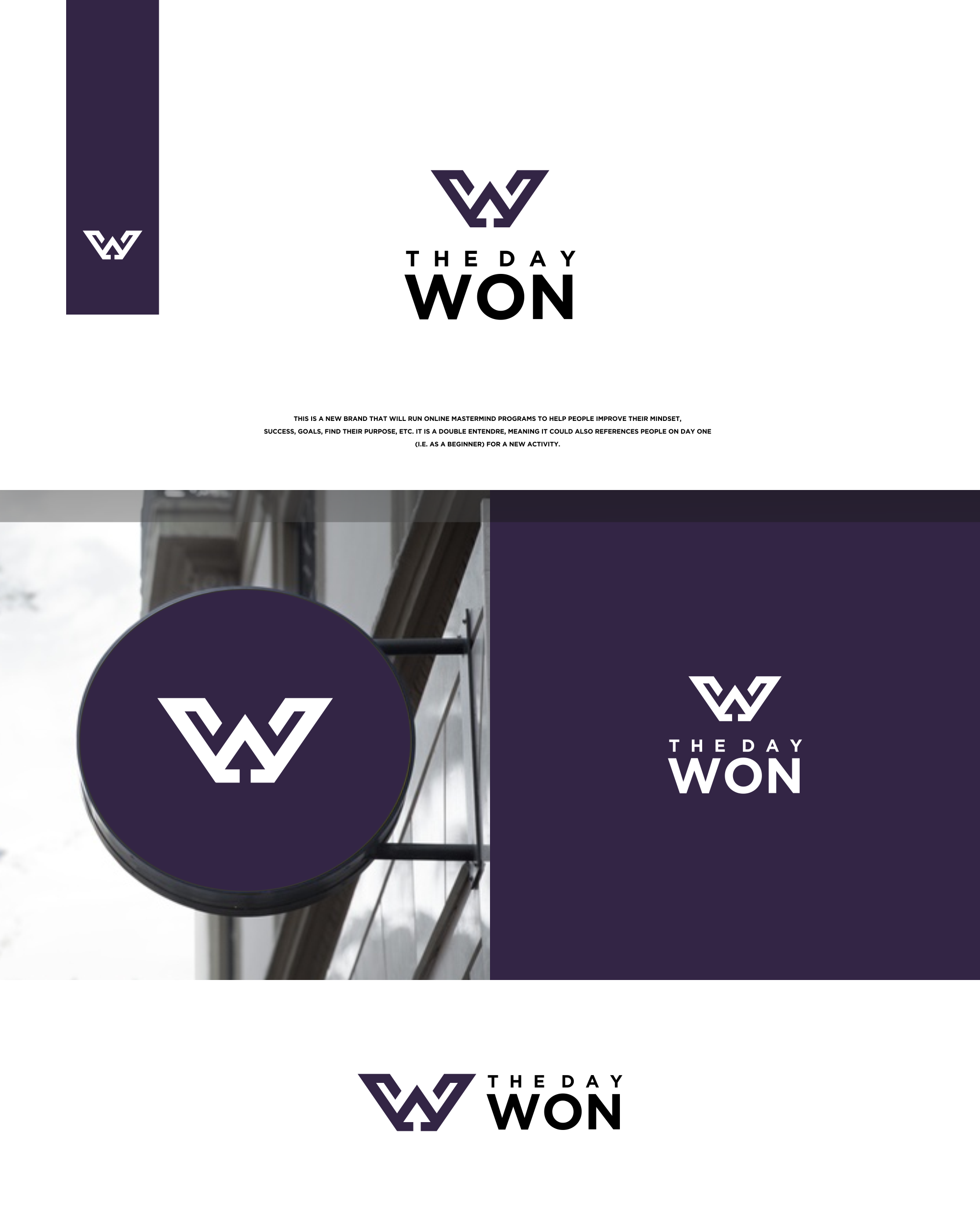 Create a logo to give people direction, inspiration and motivation to succeed