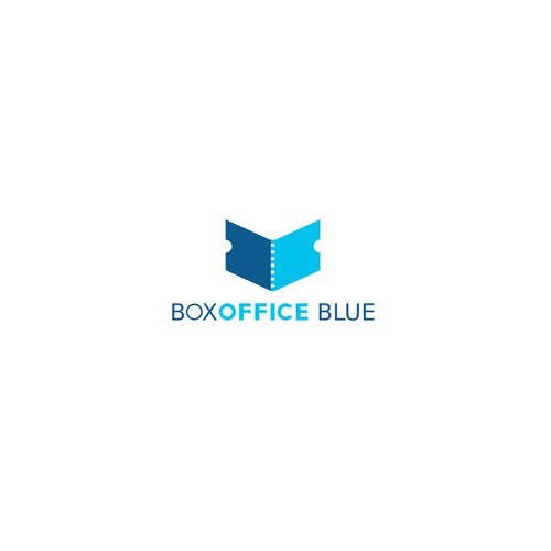 Bold logo concept for Box Office Blue
