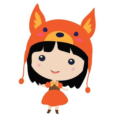 Cute little fox girl.