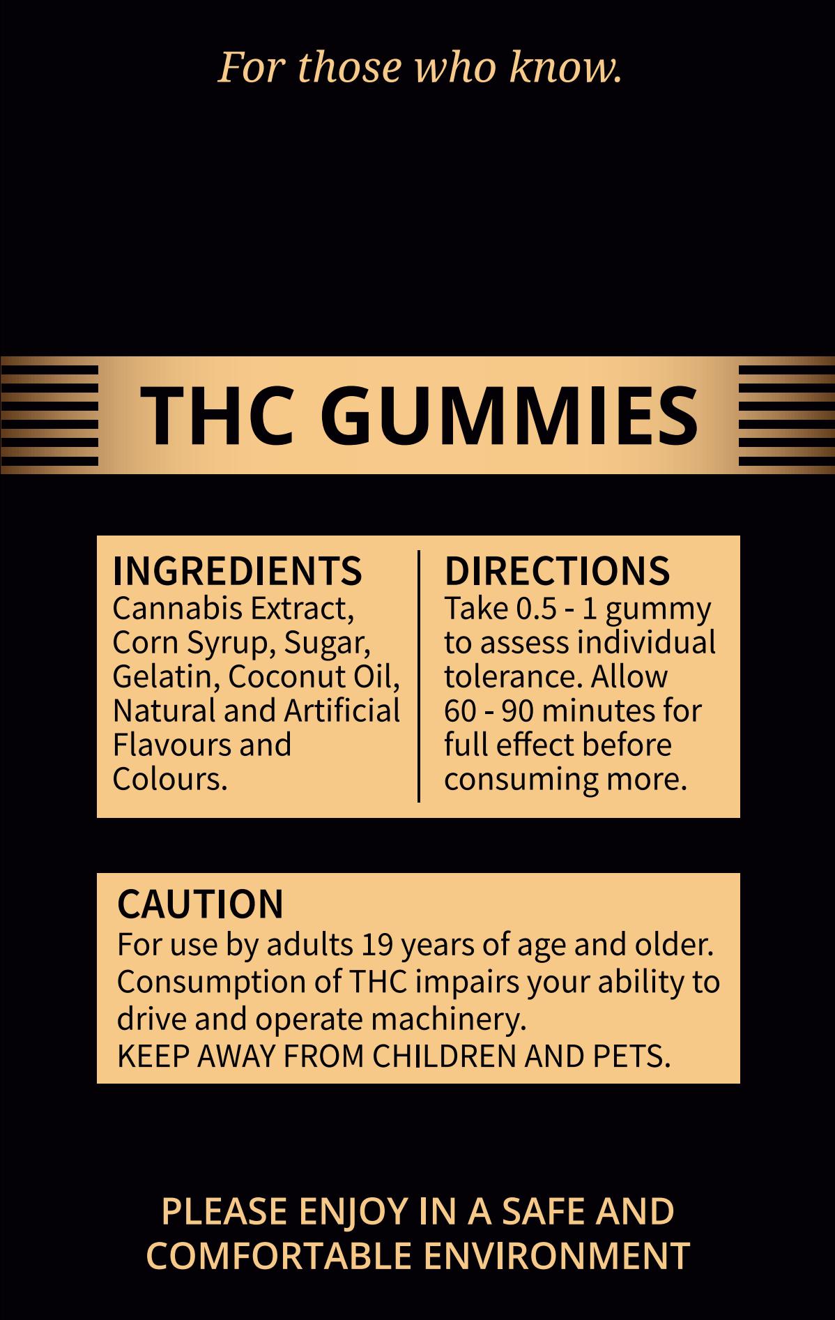 Gummy Labels/Packaging