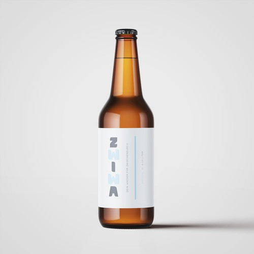 Bottle Label Design For Water Product