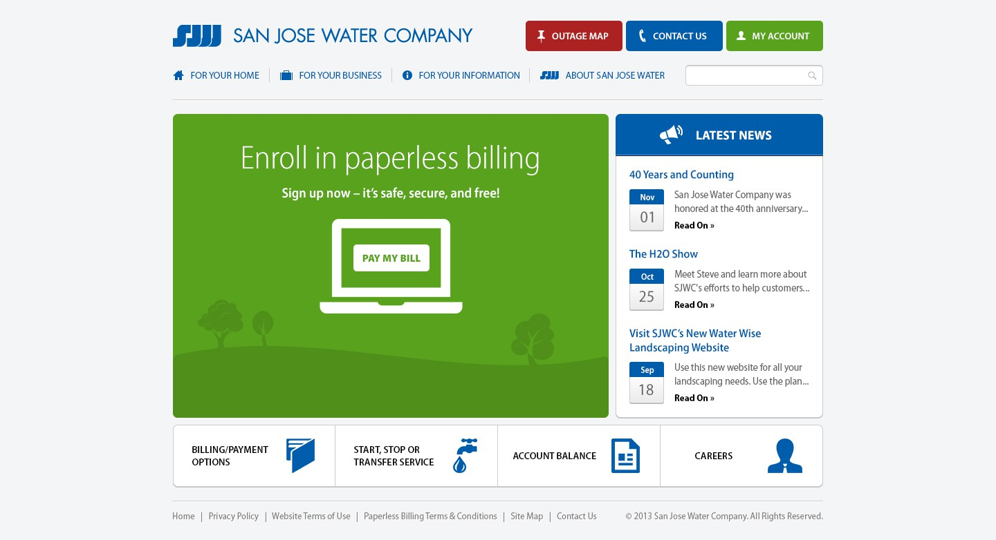 New website design wanted for San Jose Water Company