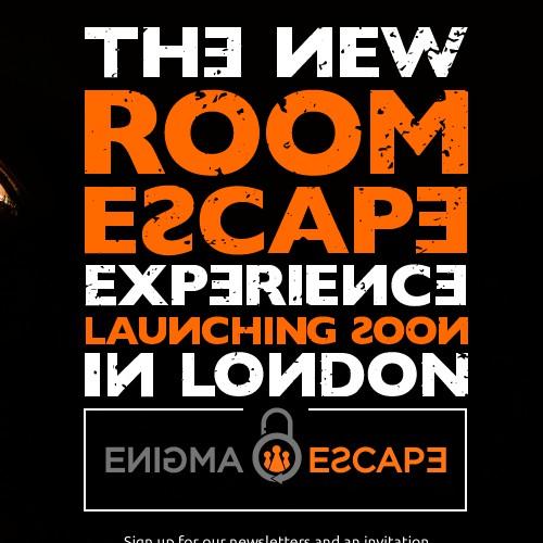 Enigma Escape - Landing Page