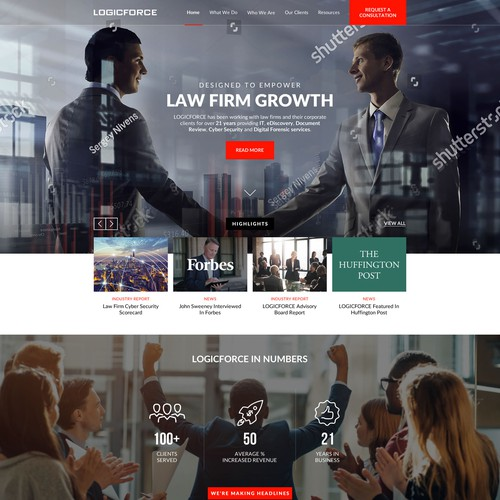 Consulting firm Web Design