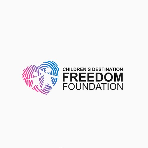 Modern logo for Children's Destination Freedom Foundation