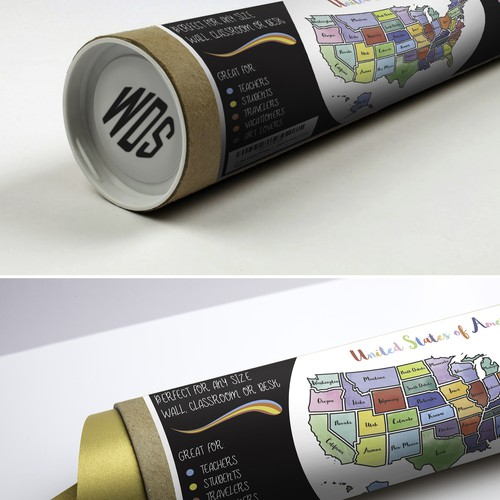 Design for USA Map Packaging Tube