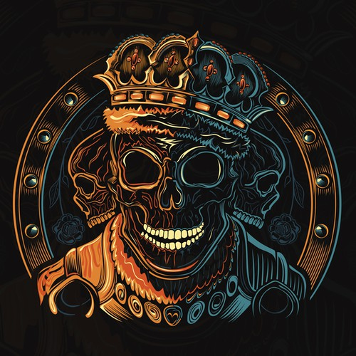 Cool Skull Design for Men's TShirt