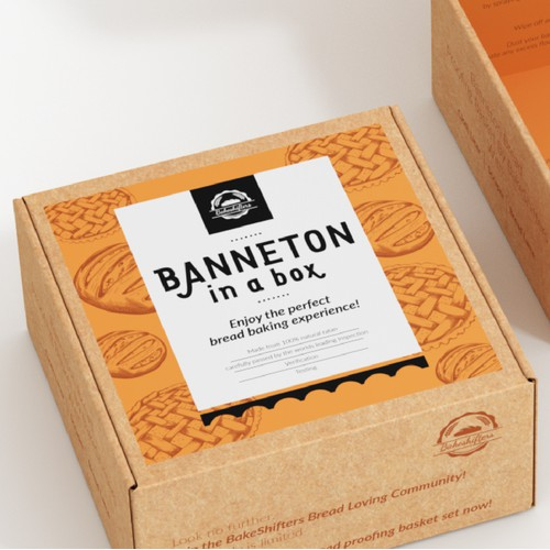 Create a retro-cool, eco-inspired, stand-out Package/Box for a Bread Proofing Basket
