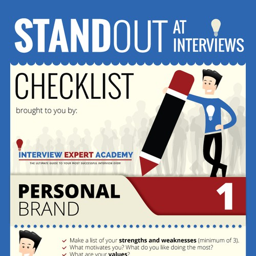 Create an Interview Checklist infographic for Interview Expert Academy