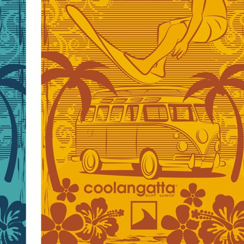 "Towel surf&beach design for ""Coolangatta"". 10 winners. Brief English and Spanish"