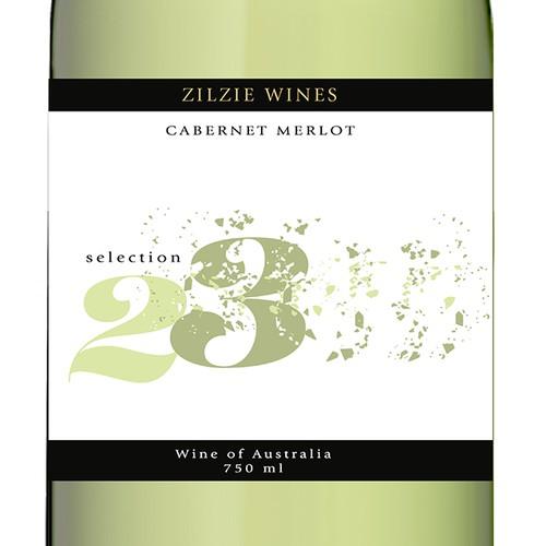 Great modern Wine label