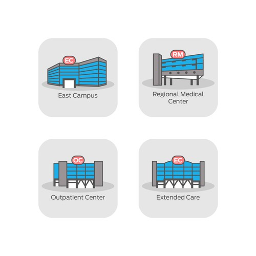 Icons for Healthcare Network