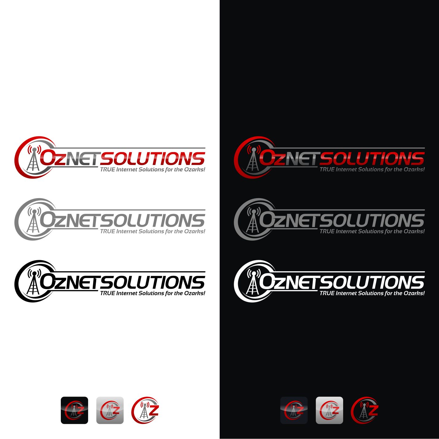 Create a winning logo for OzNET Solutions