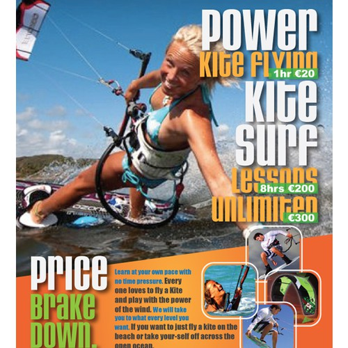 print or packaging design for Kitesurf Ireland.