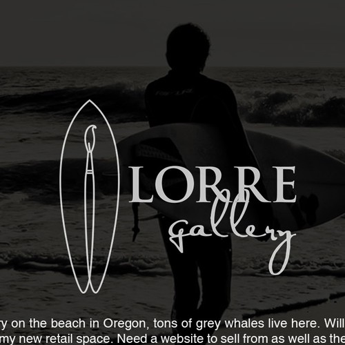 Logo concept for a Beach Art Gallery