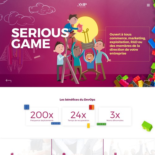 Creative Website Design with Character Illustrations