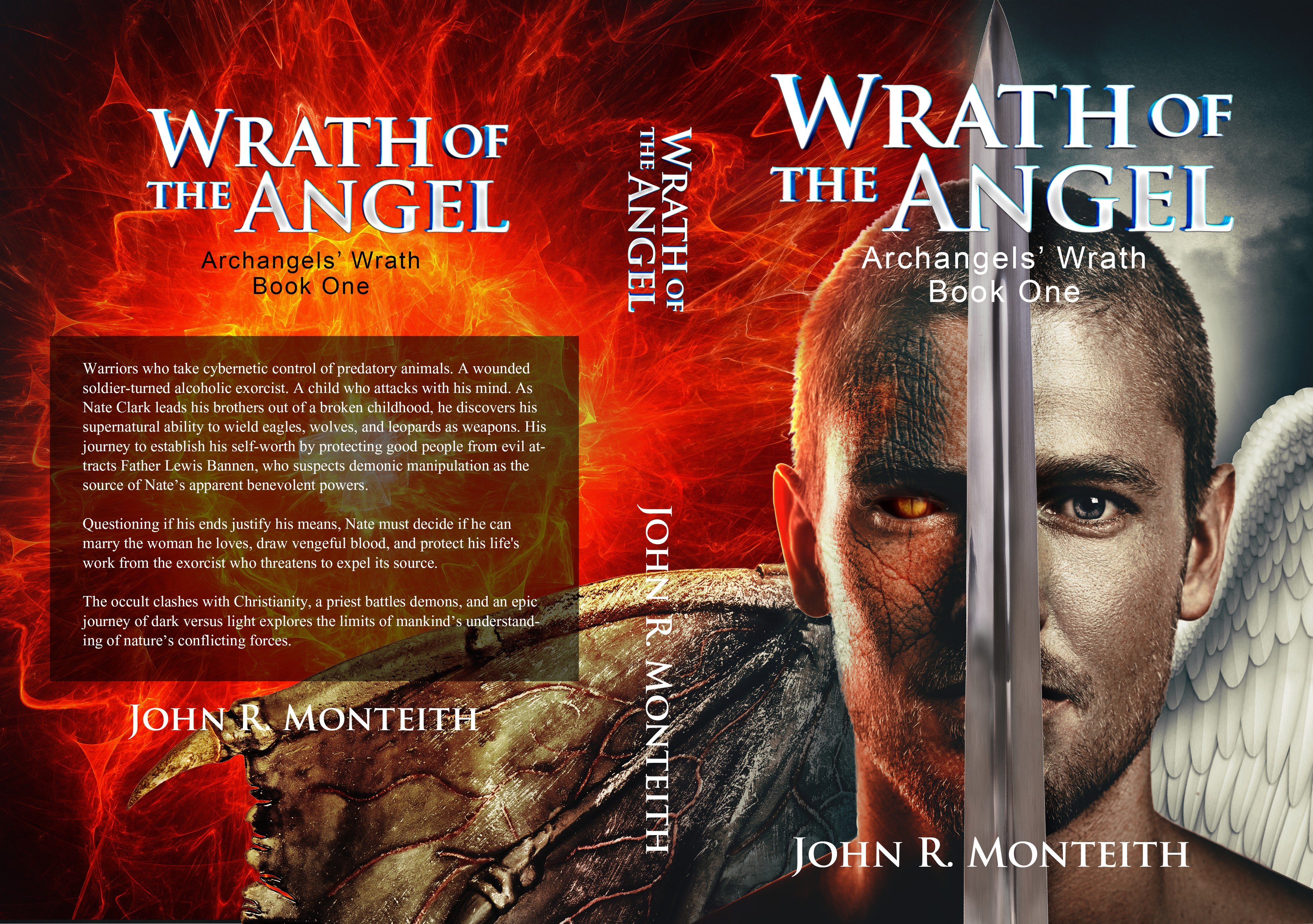Create cover for books in a 3+ paranormal/religious novel series