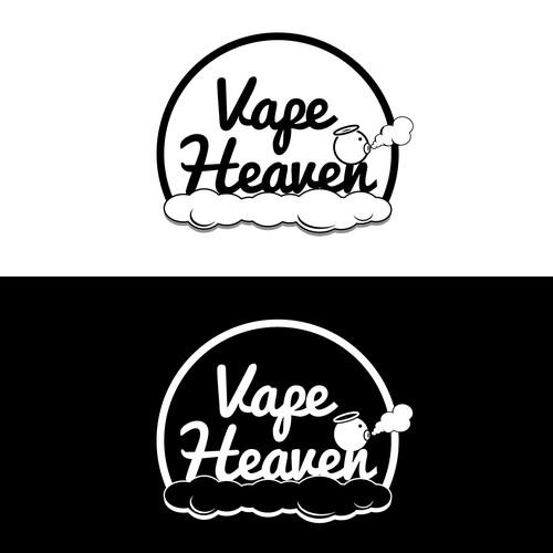 Create a logo for my vaporizer pen company called Vape Heaven