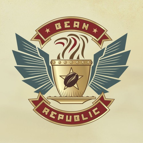 Bean Republic logo design