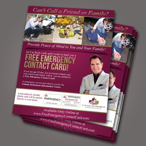 Flyer contest for FreeEmergencyContactCard.com