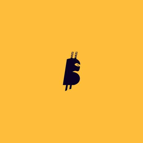 BitNinja logo design for blockchain technology.